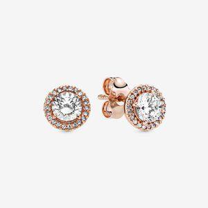 ✨Pandora Round Sparkle Halo Stud Earrings